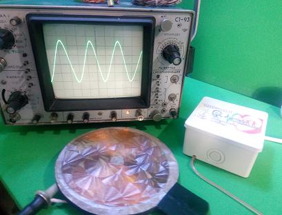 Катушки Мишина - осцилограмма синусоидного сигнала